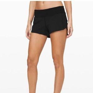 "Black Lululemon speed shorts 2.5"" -brand new!"